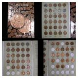 Partial Lincoln cent book 1941-1972, 74 coins