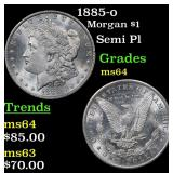 1885-o Morgan Dollar $1 Grades Choice Unc