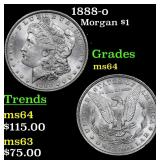 1888-o Morgan Dollar $1 Grades Choice Unc