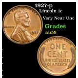 1927-p Lincoln Cent 1c Grades Choice AU/BU Slider
