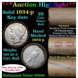 ***Auction Highlight*** Full solid date 1934-p Pea