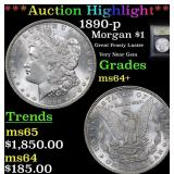 ***Auction Highlight*** 1890-p Morgan Dollar $1 Gr