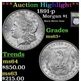 ***Auction Highlight*** 1891-p Morgan Dollar $1 Gr