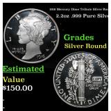 1916 Mercury Dime Tribute Silver Round 2.2oz .999