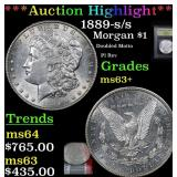 ***Auction Highlight*** 1889-s/s Morgan Dollar $1