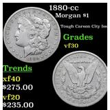 1880-cc Morgan Dollar $1 Grades vf++