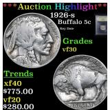 ***Auction Highlight*** 1926-s Buffalo Nickel 5c G