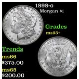 1898-o Morgan Dollar $1 Grades GEM+ Unc