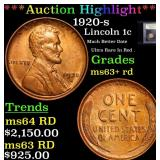 ***Auction Highlight*** 1920-s Lincoln Cent 1c Gra