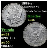 1898-s Morgan Dollar $1 Grades Choice AU