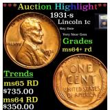 ***Auction Highlight*** 1931-s Lincoln Cent 1c Gra