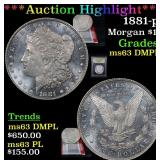 ***Auction Highlight*** 1881-p Morgan Dollar $1 Gr