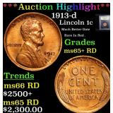 ***Auction Highlight*** 1913-d Lincoln Cent 1c Gra