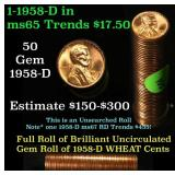 Full roll of 1957 Canadian Cents  Uncirculated Con