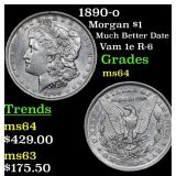 1890-o Morgan Dollar $1 Grades Choice Unc
