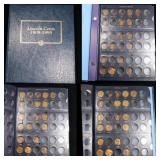 Starter Lincoln cent book 1935-1990, 29 coins