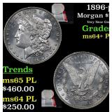 1896-p Morgan Dollar $1 Grades Choice Unc+ PL