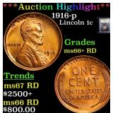 ***Auction Highlight*** 1916-p Lincoln Cent 1c Gra
