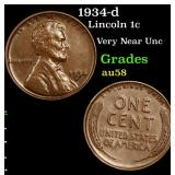 1934-d Lincoln Cent 1c Grades Choice AU/BU Slider