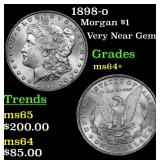 1898-o Morgan Dollar $1 Grades Choice+ Unc