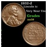 1932-d Lincoln Cent 1c Grades Choice AU/BU Slider