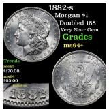 1882-s Morgan Dollar $1 Grades Choice+ Unc