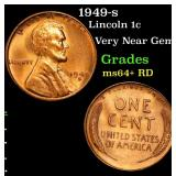 1949-s Lincoln Cent 1c Grades Choice+ Unc RD