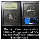1989-s Congress . . Proof Commem Half Dollar 50c G