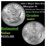 1882-o Major Mint Error Morgan Dollar $1 Grades Se