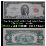 ***Star Note 1953B $2 Red Seal United States Note