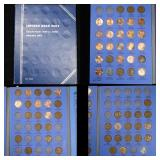 Partial Lincoln cent book 1909-1940 63 coins . .
