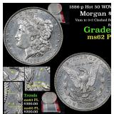 1886-p Hot 50 WOW! Morgan Dollar $1 Grades Select