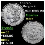 1890-o Morgan Dollar $1 Grades Select Unc