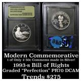 1993-s Bill of Rights . . Modern Commem Half Dolla