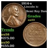 1914-s Lincoln Cent 1c Grades Select AU