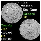 1903-s Morgan Dollar $1 Grades f+