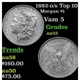1882-o/s Top 100 Morgan Dollar $1 Grades Select AU