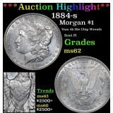 ***Auction Highlight*** 1884-s Morgan Dollar $1 Gr