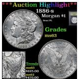 ***Auction Highlight*** 1886-s Morgan Dollar $1 Gr