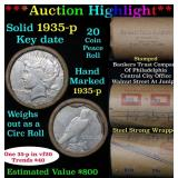 ***Auction Highlight*** Full solid date 1935-p Pea