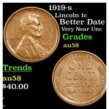 1919-s Lincoln Cent 1c Grades Choice AU/BU Slider