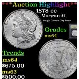 ***Auction Highlight*** 1878-cc Morgan Dollar $1 G