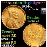 ***Auction Highlight*** 1924-p Lincoln Cent 1c Gra