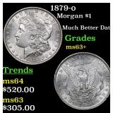 1879-o Morgan Dollar $1 Grades Select+ Unc