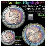 ***Auction Highlight*** 1836 Rainbow Toned Capped