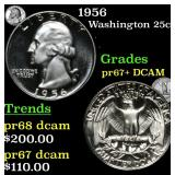 1956 Washington Quarter 25c Grades GEM++ Proof Dee
