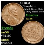 1916-d Lincoln Cent 1c Grades Choice AU/BU Slider
