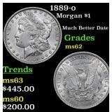 1889-o Morgan Dollar $1 Grades Select Unc
