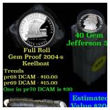 Proof 2004-s Keel Boat Jefferson nickel 5c roll, 4