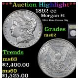 ***Auction Highlight*** 1892-cc Morgan Dollar $1 G